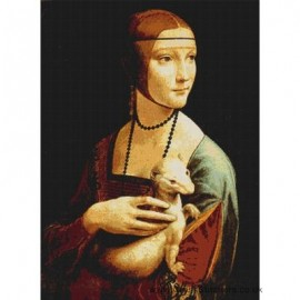 Da Vinci  - Lady with an Ermine Cross Stitch Chart by Email