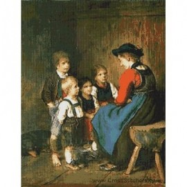 Defregger - Childrens Scene Cross Stitch Chart by Email