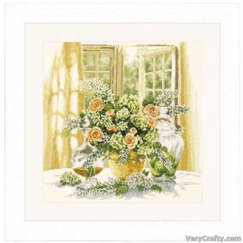 A Sunny Morning Counted Cross Stitch Kit by Vervaco / Lanarte