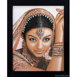 Indian Model Counted Cross Stitch Kit by Vervaco / Lanarte