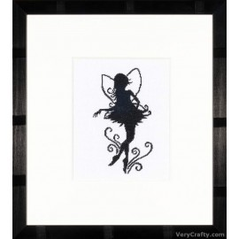 Cute Little Fairy Silhouette (Evenweave) Counted Cross Stitch Kit by Vervaco / Lanarte