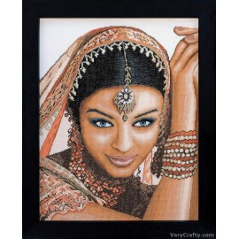 Indian Model (Aida) Counted Cross Stitch Kit by Vervaco / Lanarte