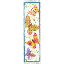 Butterflies I Bookmark Counted Cross Stitch Kit by Vervaco / Lanarte