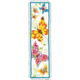 Butterflies II Bookmark Counted Cross Stitch Kit by Vervaco / Lanarte