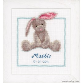 Cute Bunny Counted Cross Stitch Kit by Vervaco / Lanarte