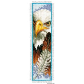Eagle Bookmark Counted Cross Stitch Kit by Vervaco / Lanarte
