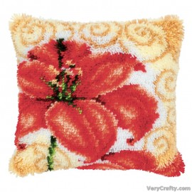 Cushion: Lily Latch Hook Kit by Vervaco / Lanarte
