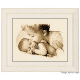 Brotherly Love Counted Cross Stitch Kit by Vervaco