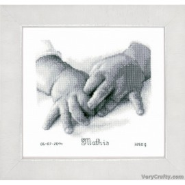 Baby Hands Counted Cross Stitch Kit by Vervaco