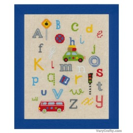 ABC on the Streets Counted Cross Stitch Kit by Vervaco