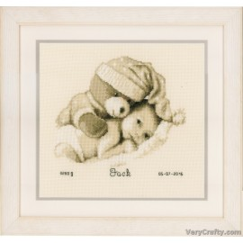 VERVACO  0148149  AT THE FARM  BIRTH CERTIFICATE  COUNTED CROSS STITCH KIT