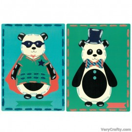 Cards: Circus: Set of 2  Embroidery Kit by Vervaco / Lanarte
