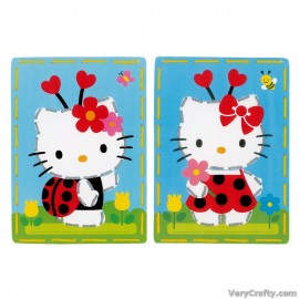 Cards: Hello Kitty: Ladybug: Set of 2  Embroidery Kit by Vervaco / Lanarte