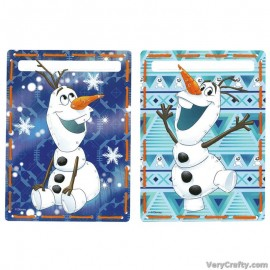 Cards: Disney: Olaf: Set of 2  Embroidery Kit by Vervaco / Lanarte