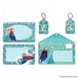 Cards: Disney: Anna and Elsa: Set of 5  Embroidery Kit by Vervaco / Lanarte