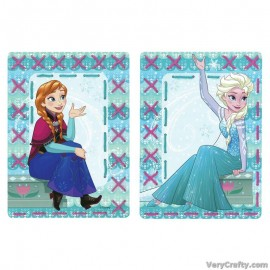 Cards: Disney: Anna and Elsa: Set of 2  Embroidery Kit by Vervaco / Lanarte