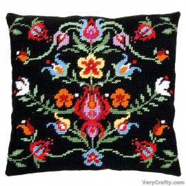 Cushion: Folklore IITapestry Kit by Vervaco / Lanarte