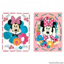 Cards: Disney: Minnie - Daydreaming: Set of 2  Embroidery Kit by Vervaco / Lanarte