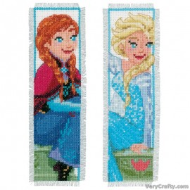 Disney: Frozen - Sisters Forever (Set of 2) Bookmarks Counted Cross Stitch Kit by Vervaco / Lanarte