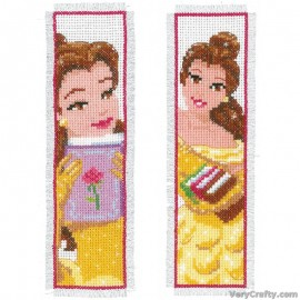 Disney Beauty (Set of 2)  Bookmarks Counted Cross Stitch Kit by Vervaco / Lanarte