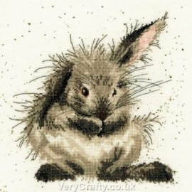 Bath Time - Rabbit Counted Cross Stitch Kit by Hannah Dale of Wrendale Designs