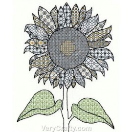 Sunflower Blackwork Kit - Bothy Threads
