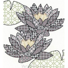 Water Lily Blackwork Kit - Bothy Threads