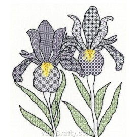 Irises Blackwork Kit - Bothy Threads