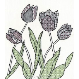 Tulips Blackwork Kit - Bothy Threads