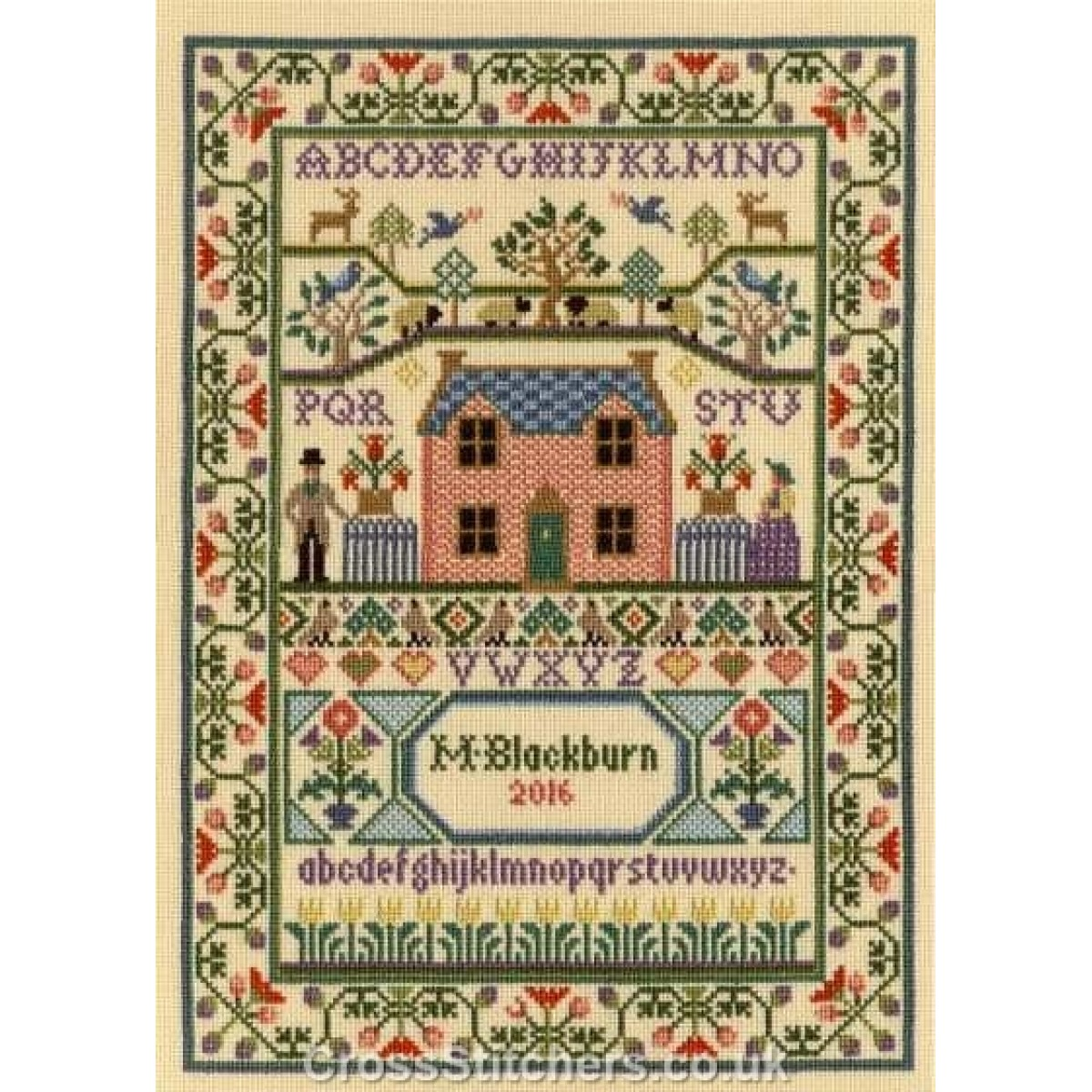 Bothy Threads ~ Counted Cross Stitch Kit ~ Sampler ~ Country Cottage ~ XS3