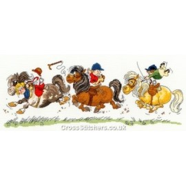 Horse Play - Norman Thelwell Horse Cross Stitch Kit from Bothy Threads