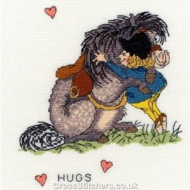 Hugs - Norman Thelwell Horse Cross Stitch Kit from Bothy Threads