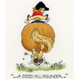 A Good All Rounder - Norman Thelwell Horse Cross Stitch Kit from Bothy Threads