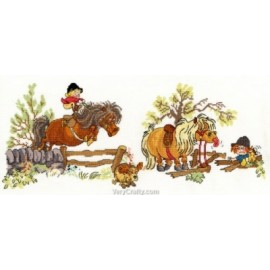 Crash Landing - Norman Thelwell Horse Cross Stitch Kit from Bothy Threads