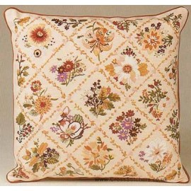 Autumn Trellis Cushion Embroidery Kit from Design Perfection