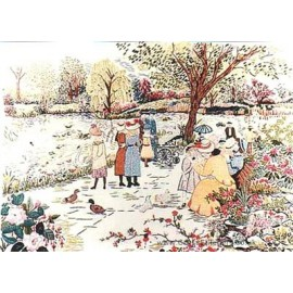 A Stroll in the Park Embroidery Kit from Design Perfection