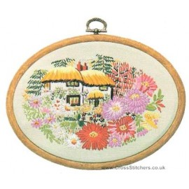 Aster Cottage Embroidery Kit from Design Perfection