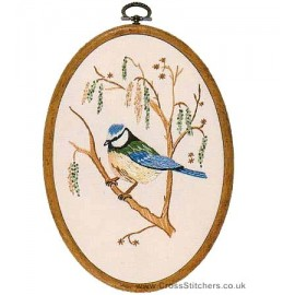 Bluetit Embroidery Kit from Design Perfection