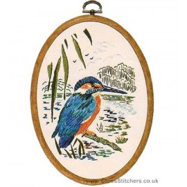 Kingfisher Embroidery Kit from Design Perfection