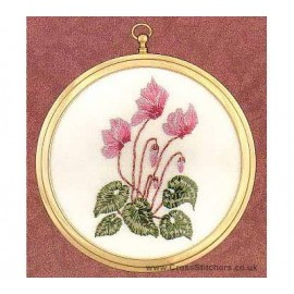 Cyclamen Embroidery Kit from Design Perfection