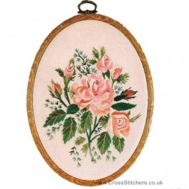 Alba Rose Embroidery Kit from Design Perfection