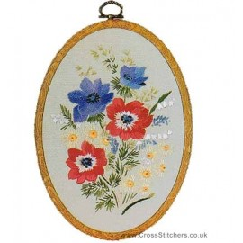 Anemones Embroidery Kit from Design Perfection