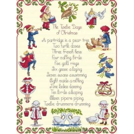12 Days Of Christmas - All Our Yesterdays Cross Stitch Kit