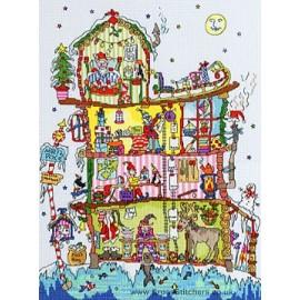 Cut Thru' North Pole House - Bothy Threads Cross Stitch Kit