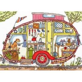Cut Thru' Vintage Caravan - Bothy Threads Cross Stitch Kit
