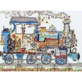 Cut Thru' Steam Train - Bothy Threads Cross Stitch Kit