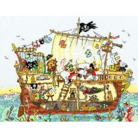 Cut Thru' Pirate Ship - Bothy Threads Cross Stitch