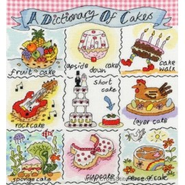 A Dictionary Of Cakes Cross Stitch Kit from Bothy Threads