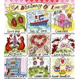 A Dictionary Of Love Cross Stitch Kit from Bothy Threads