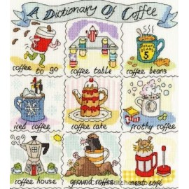 A Dictionary Of Coffee Cross Stitch Kit from Bothy Threads